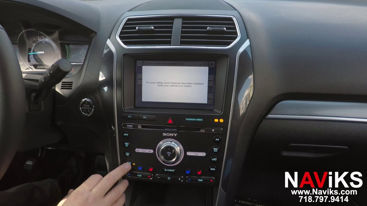 2018 Ford Explorer SYNC 3 NAViKS Motion Lockout Bypass: NAV In Motion