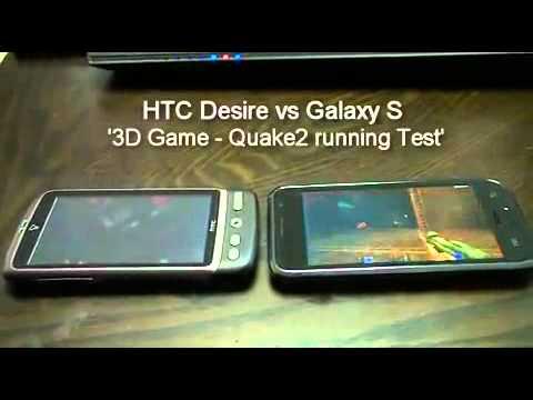 Сравнение Samsung GT-I9000 Galaxy S vs HTC Desire Game ...
