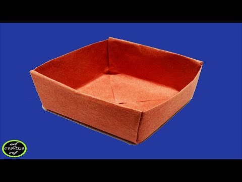How To Make A Origami Paper Box Without Glue ! Paper Craft For School