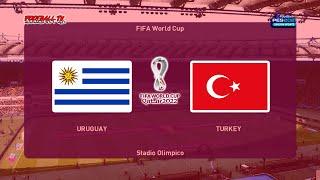 URUGUAY vs TURKEY FIFA World Cup 2022 PES 2021 Gameplay PC