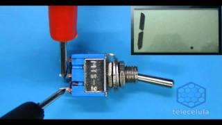 Como testar uma Chave Alavanca ON-OFF com o Multímetro