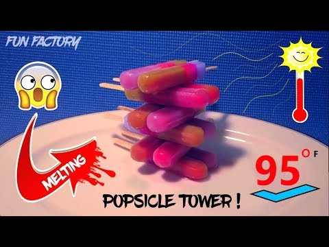 Oddly Satisfying Video | Colorful Melting Popsicle Tower (2019) NEW Satisfying Video