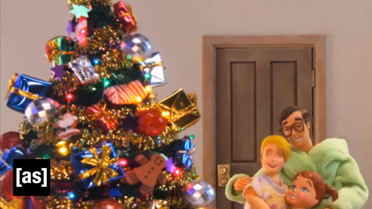 unhappy christmas robot chicken adult swim - Metalocalypse Christmas Tree