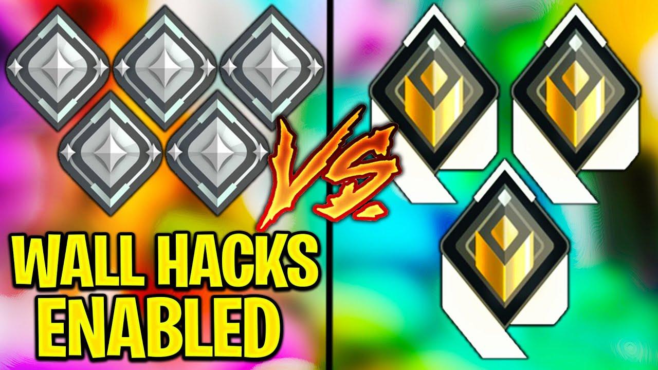 5 Silver Wallhackers VS 3 Radiant Players! - Valorant