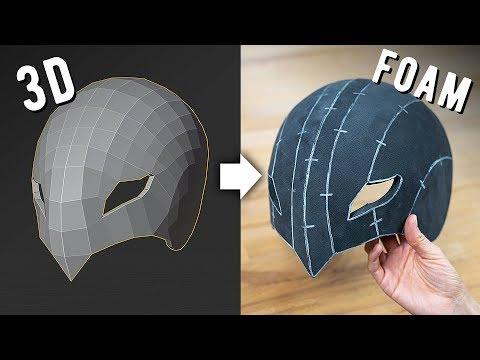 From 3D Model to Foam Pattern | Cosplay Tutorial