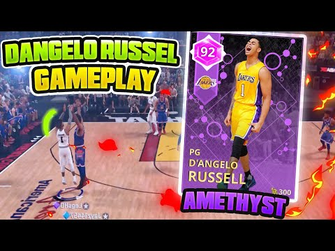 AMETHYST D'ANGELO RUSSELL GAMEPLAY!! HES A THREE POINT GOD!! NBA 2K18