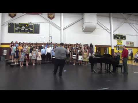 """Dundee Middle School 8th Grade Chorus """"See You Again"""" at Recognition Night"""