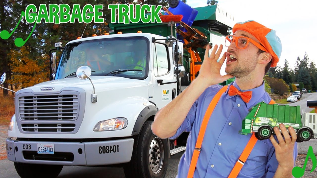 Blippi Garbage Truck Song - Trucks For Kids   Learn About Recycling   Blippi Videos