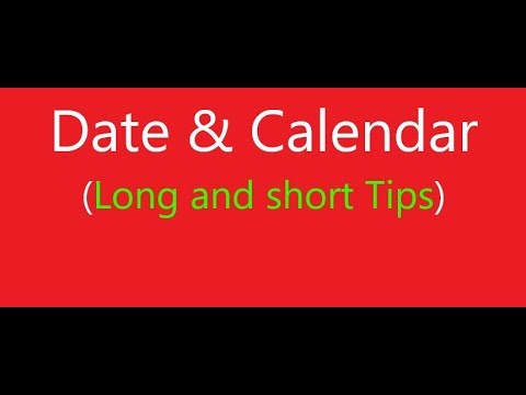 Date and Calendar new