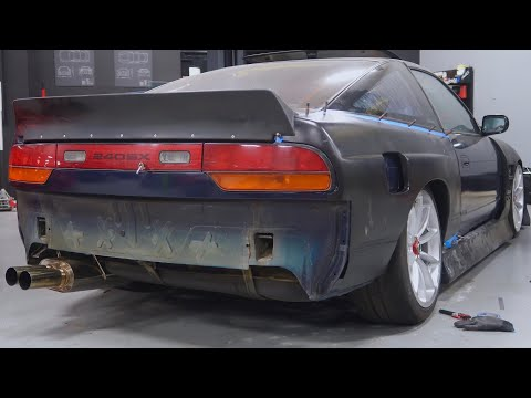 Installing Wide Body Fenders on a 240sx!