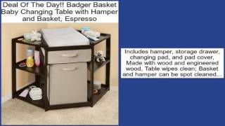 Badger Basket Baby Changing Table with Hamper and Basket, Espresso Review