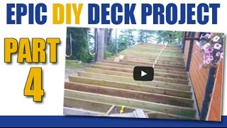 Epic Diy Deck Project -part 4- Patch A Wall Hole & Finish Deck Joists
