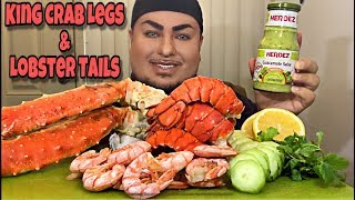 GIANT Alaskan King Crab Legs & Lobster Tails | HERDEZ Guacamole Salsa