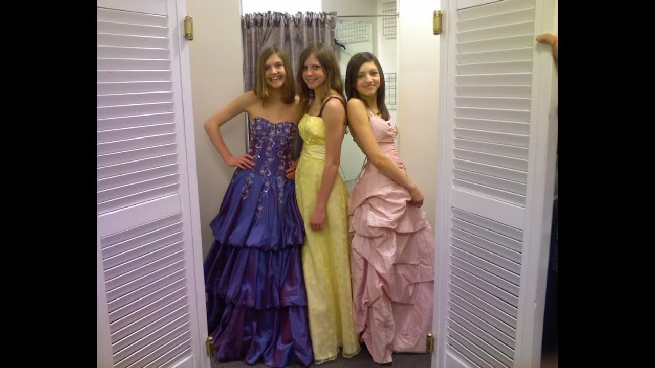 Trying On Prom Dresses