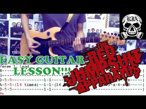 Face Down - The Red Jumpsuit Apparatus(Complete Guitar Lesson/Cover)with Chords and Tab