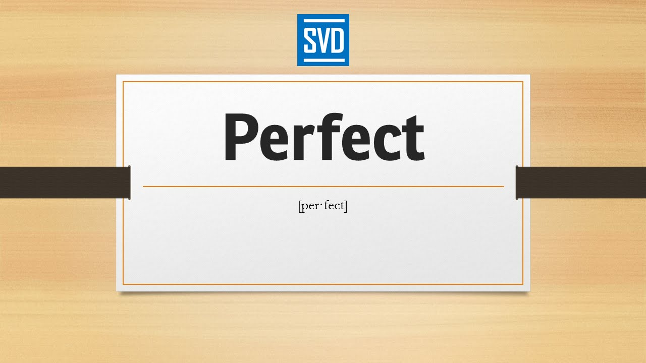Thesaurus picture perfect