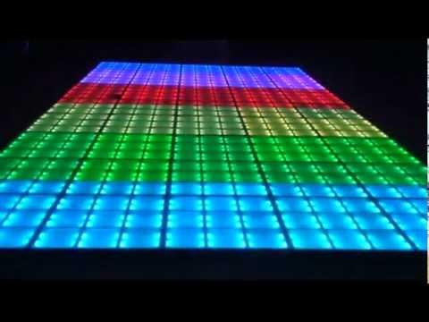 Pista De Baile Led Alfanumerica Cristal Templado Youtube
