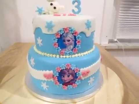 Anna Und Elsa Mit Olaf Eiskonigin Torte Zum Geburtstag