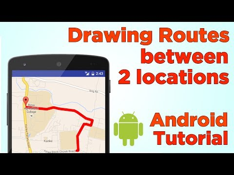 Draw route and calculate distance between two locations in Google