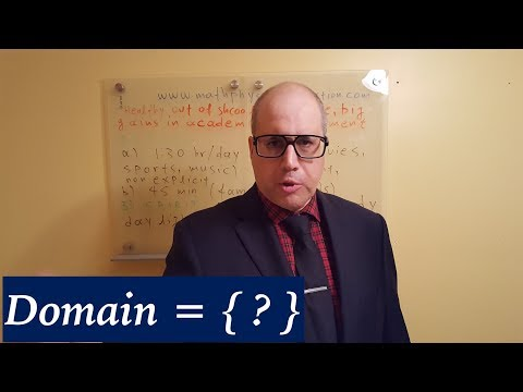 How to find the domain of any function