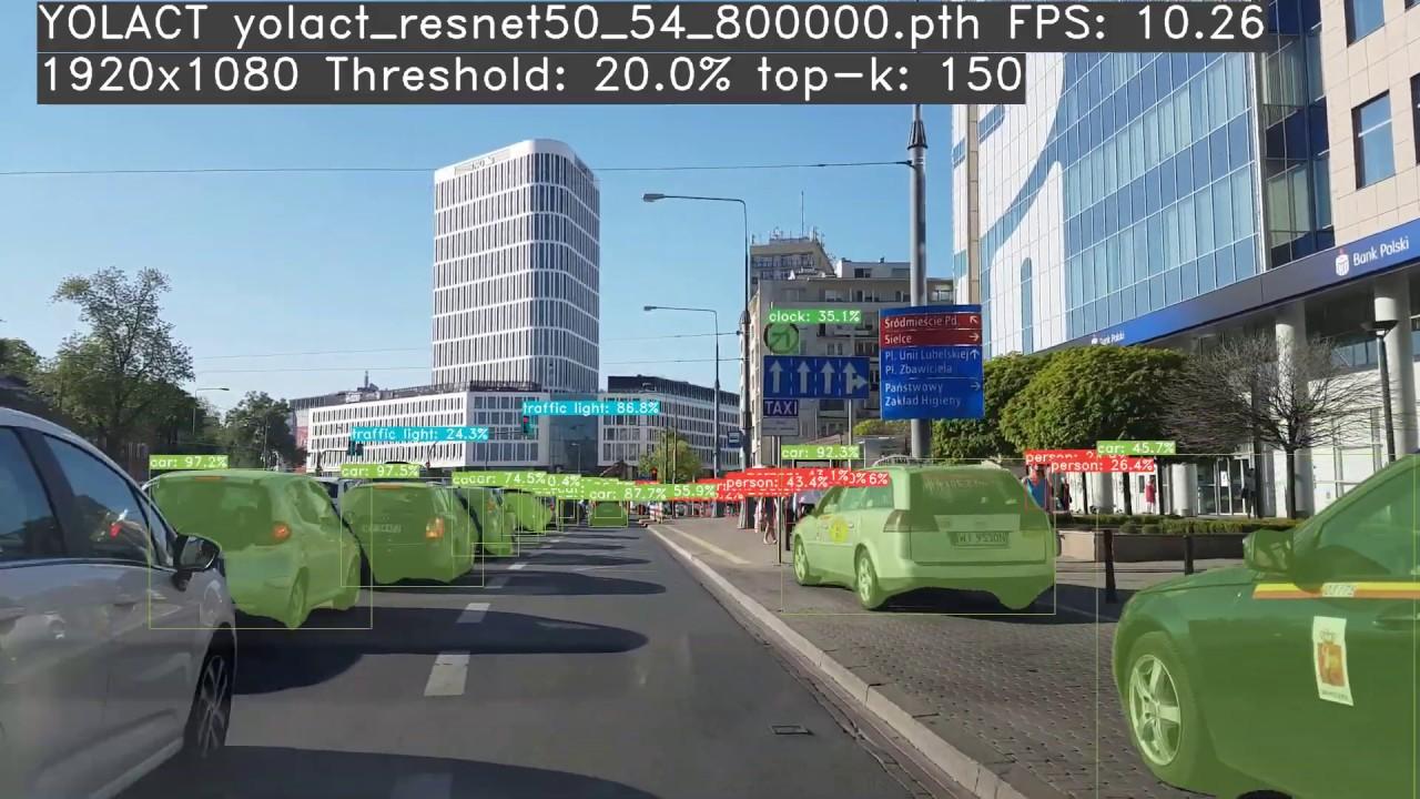 YOLACT Resnet50 550px: YOLO Instance Segmentation