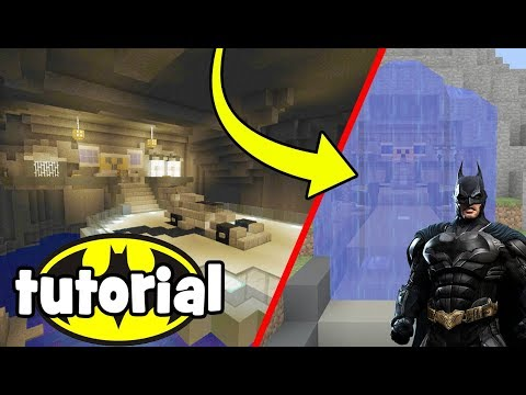 """Minecraft Tutorial: How To Make The Batcave """"The Batman Cave Lair"""""""
