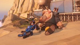 Tracer and Roadhogs Date   Randumb Overwatch Moments