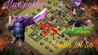 Max Level 8 PEKKA vs Max Level 60 ARCHER QUEEN | Clash of Clans Ultimate Battle | by clash with me |
