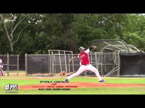 Stanly Castillo RHP 2018 Class (Mejia y Neno Baseball Academy) Date Video: 24.11.2016