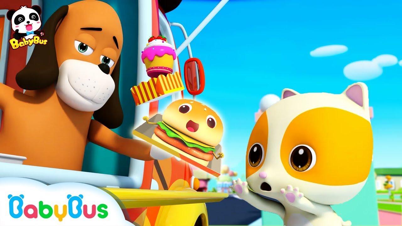 美味的大漢堡 | 最新美食兒歌 | 好習慣童謠 | 不挑食動畫 | 小廚師卡通 | 寶寶巴士 | 奇奇 | BabyBus - YouTube