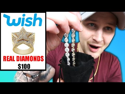 I Bought ACTUAL REAL DIAMOND JEWELRY Off WISH!!. AND DIAMOND TESTED IT!
