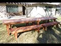 How to build a custom table: DYI Project: 16ft table and four benches
