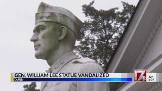 Confederate monument vandals take aim at wrong Lee statue in Dunn