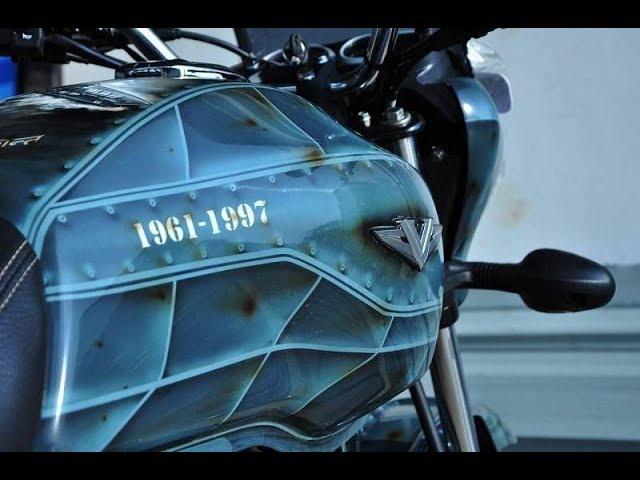 Bajaj Vikrant Fully Modified  in 2018 || Vikrant V15 to Cafe Racer || Fully Customization Bike