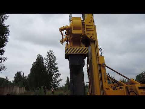 машина МС-1 для вибропогружения свайных фундаментов