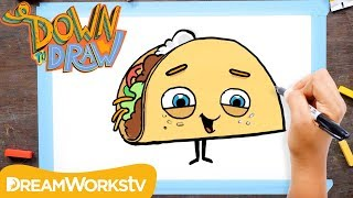 How to Draw a Talking Taco | DOWN TO DRAW