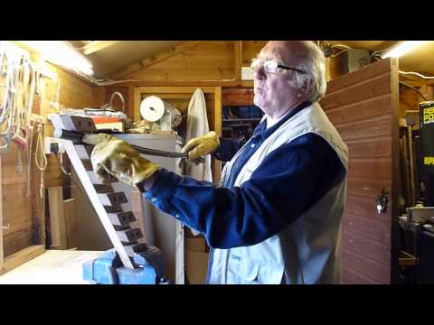 walking sticks stick making stick straightening demonstration series 2
