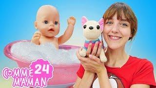 Vidéo en français pour enfants. Comme maman № 24. Un nouveau lit pour bébé born Emily