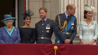 Meghan Joins Queen Elizabeth & Rest Of Royal Family ALL MOMENTS - RAF Centenary Fly Past 2018