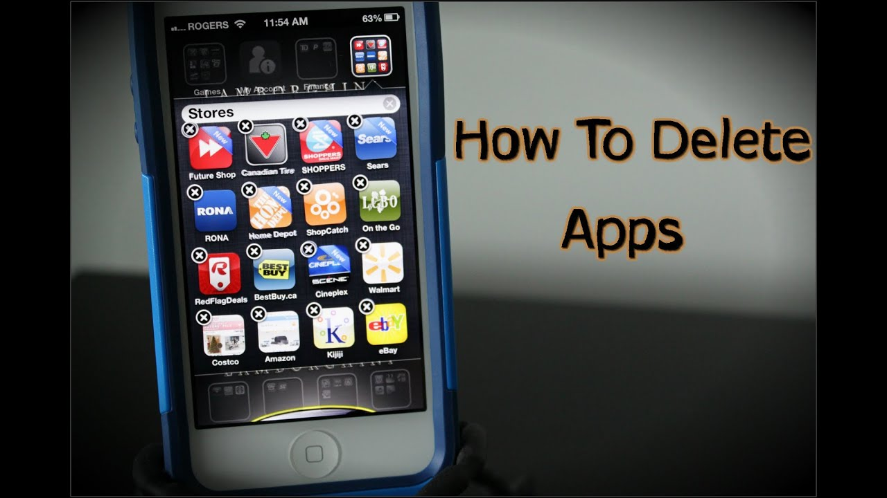 How To Delete Apps On The Iphone 5 & 6  How To Use The Iphone 5 & 6   Youtube