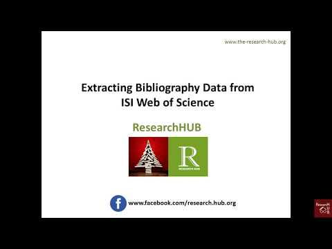 Bibliometric Analysis (6): Extracting Bibliography Data from Web of Science database