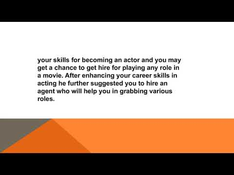 Dalyboy Belgason : Guide To Become An Actor