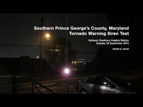 Tornado Siren — Prince George's County, MD & Washington, D.C.