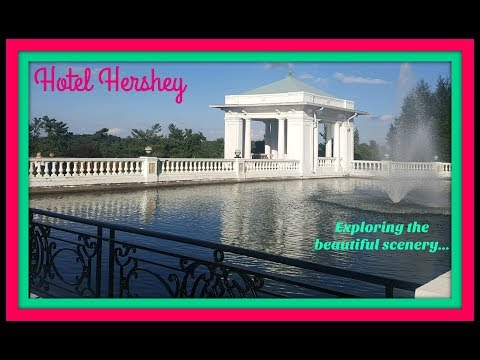 Hershey Pennsylvania at Hotel Hershey! Exploring the Outside Grounds in October