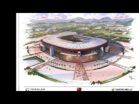 Projeto Estádio do Flamengo e Arena Multiuso na Gávea por Marcelo Tessler