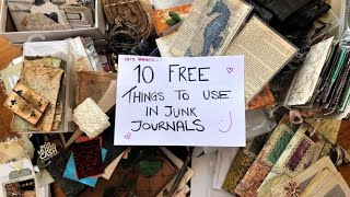10 FREE Things to Use in Junk Journals - ABUNDANCE OF INSPIRATION