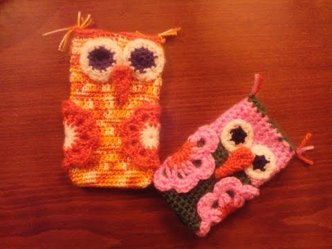 DIY Funda de celular a crochet de buho paso a paso Parte I