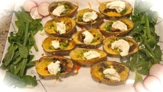 Loaded Potato Skins, Quick And Simple Recipe Great For Parties, Easy To Make