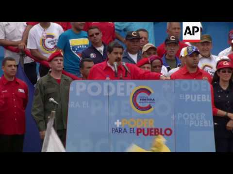 Maduro tells 'Emperor' Trump to 'go home'