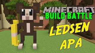 APAN ÄR LEDSEN! | Minecraft Team Build Battle på Hypixel